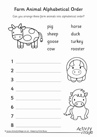 Farm Animal Worksheets for Preschoolers Best Of Farm Animal Worksheets
