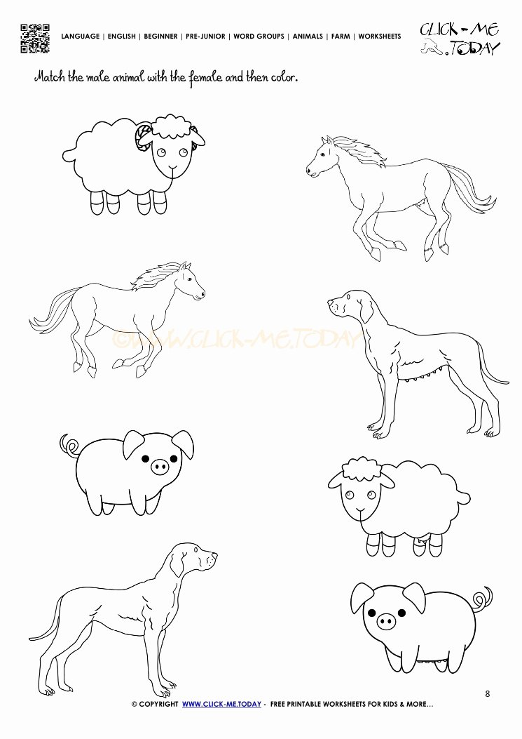 Farm Animals Worksheets for Preschoolers Best Of Farm Animals Worksheet Activity Sheet 8