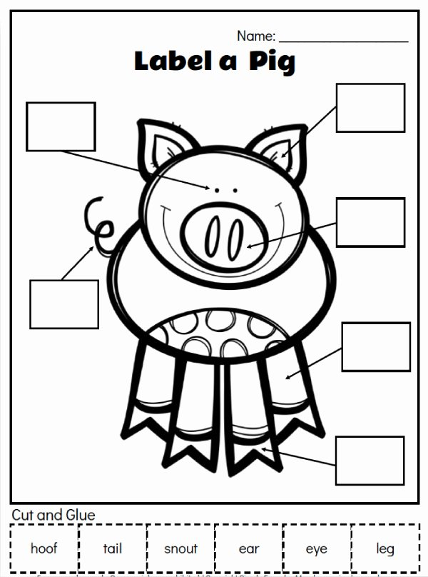 Farm Animals Worksheets for Preschoolers Fresh Farm Animal Printables for Preschool