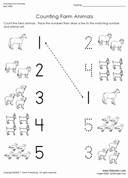 Farm Animals Worksheets for Preschoolers top Counting Farm Animals