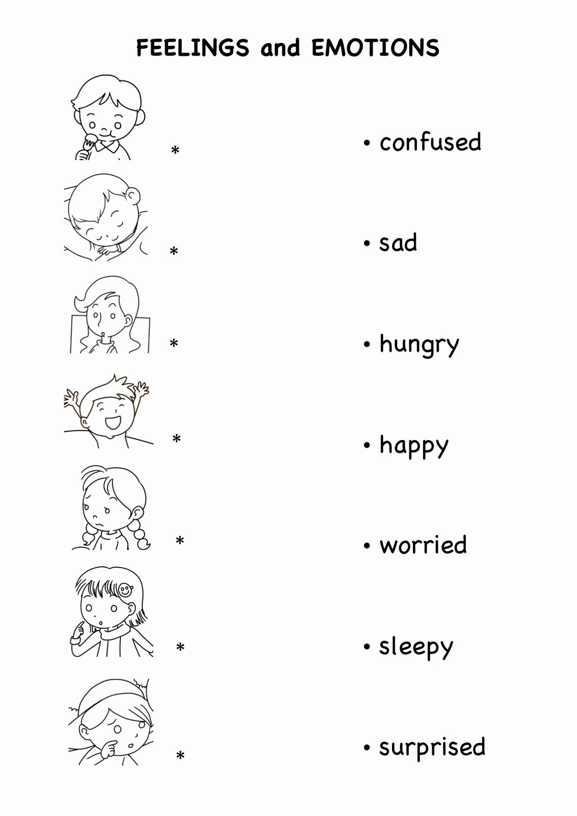 Feelings and Emotions Worksheets for Preschoolers Fresh Emotions Worksheets Pdf