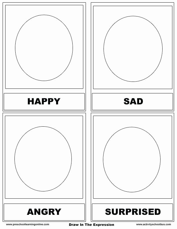 Feelings and Emotions Worksheets for Preschoolers Unique Drawing Feelings Worksheets