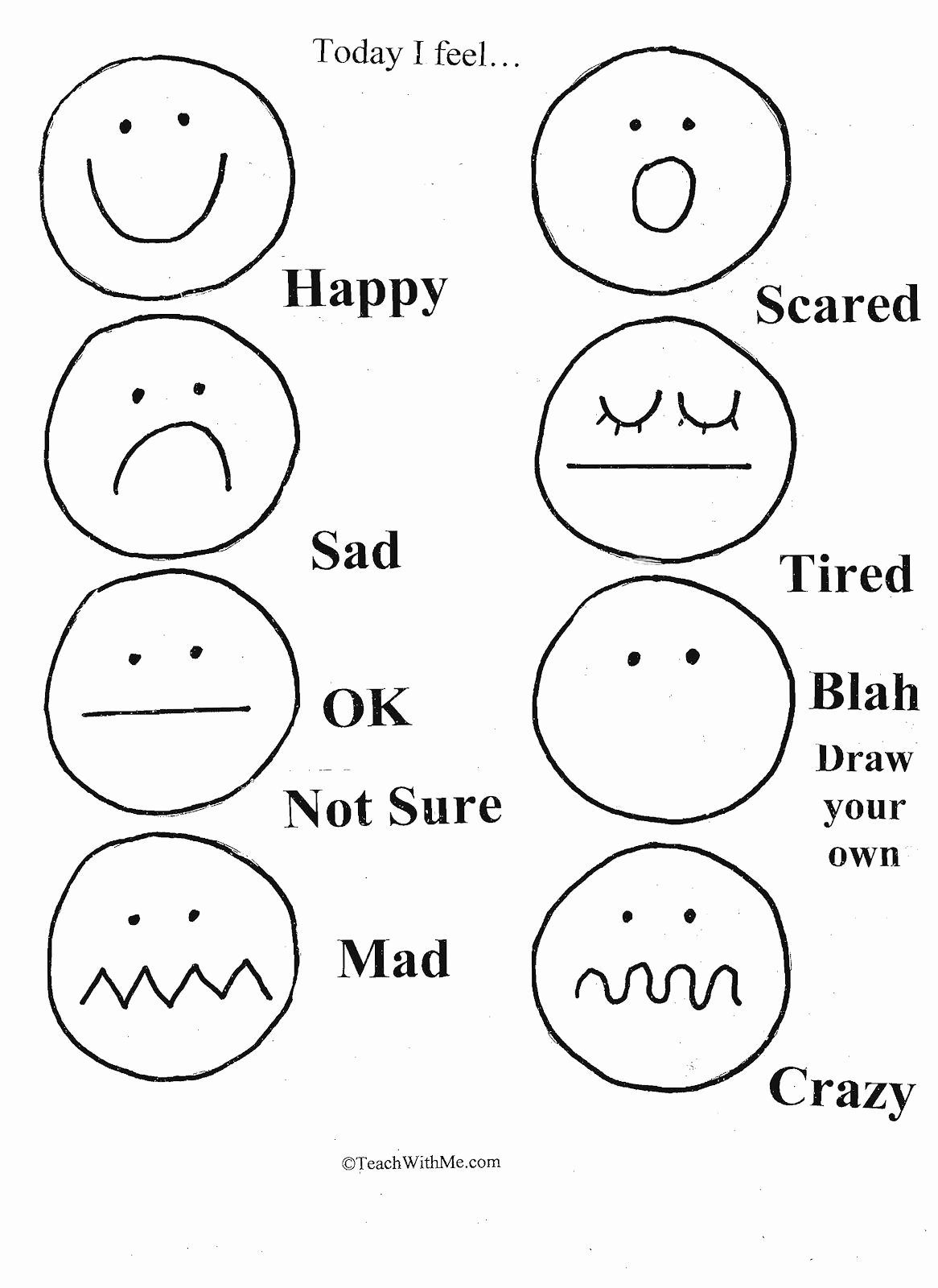 Feelings and Emotions Worksheets for Preschoolers Unique Emotion assessment 1 166—1 600 Pixels