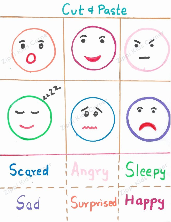 Feelings and Emotions Worksheets for Preschoolers Unique Emotions and Feelings Worksheets for toddlers and