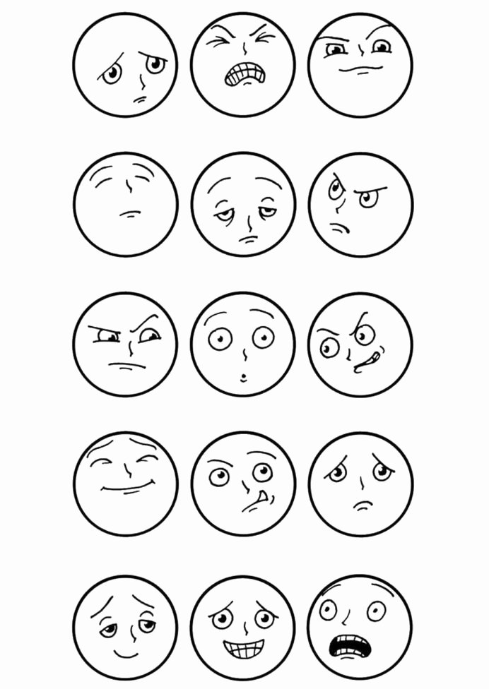 Feelings and Emotions Worksheets for Preschoolers Unique top Free Printable Emotions Coloring Emotion Feeling Grade
