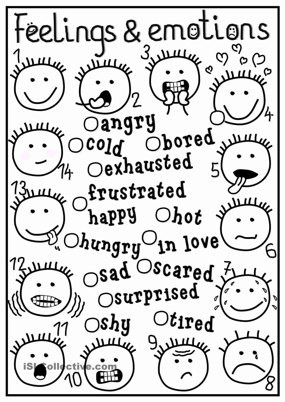 Feelings Worksheets for Preschoolers Awesome Feelings Coloring Pdf Kerra Best Feeling Printable