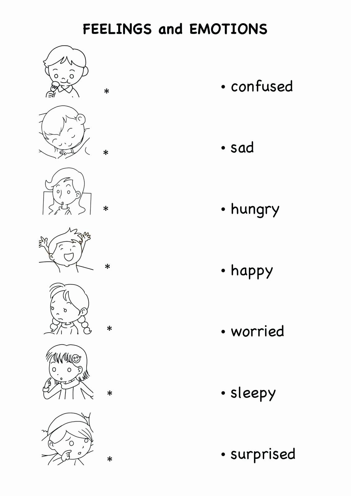 Feelings Worksheets for Preschoolers New Feelings Worksheet for Preschool Brian Molko