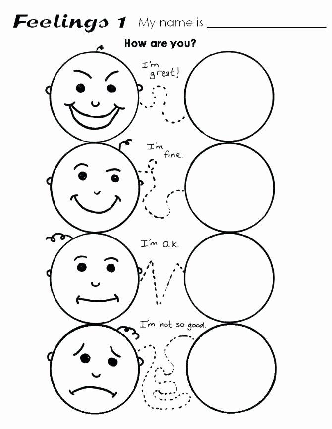 Feelings Worksheets for Preschoolers top Feelings Worksheets – Keepyourheadup