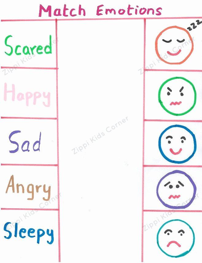 Feelings Worksheets for Preschoolers Unique Emotions and Feelings Worksheets for toddlers and