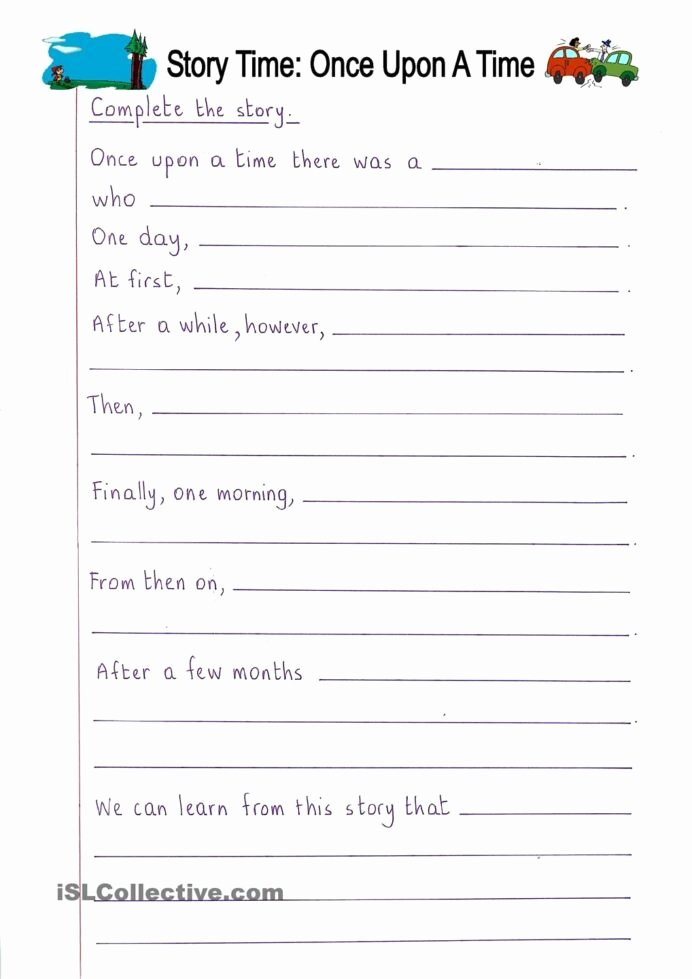 Few and Many Worksheets for Preschoolers Beautiful Read and Plete Ce Upon Time Writing Year Creative
