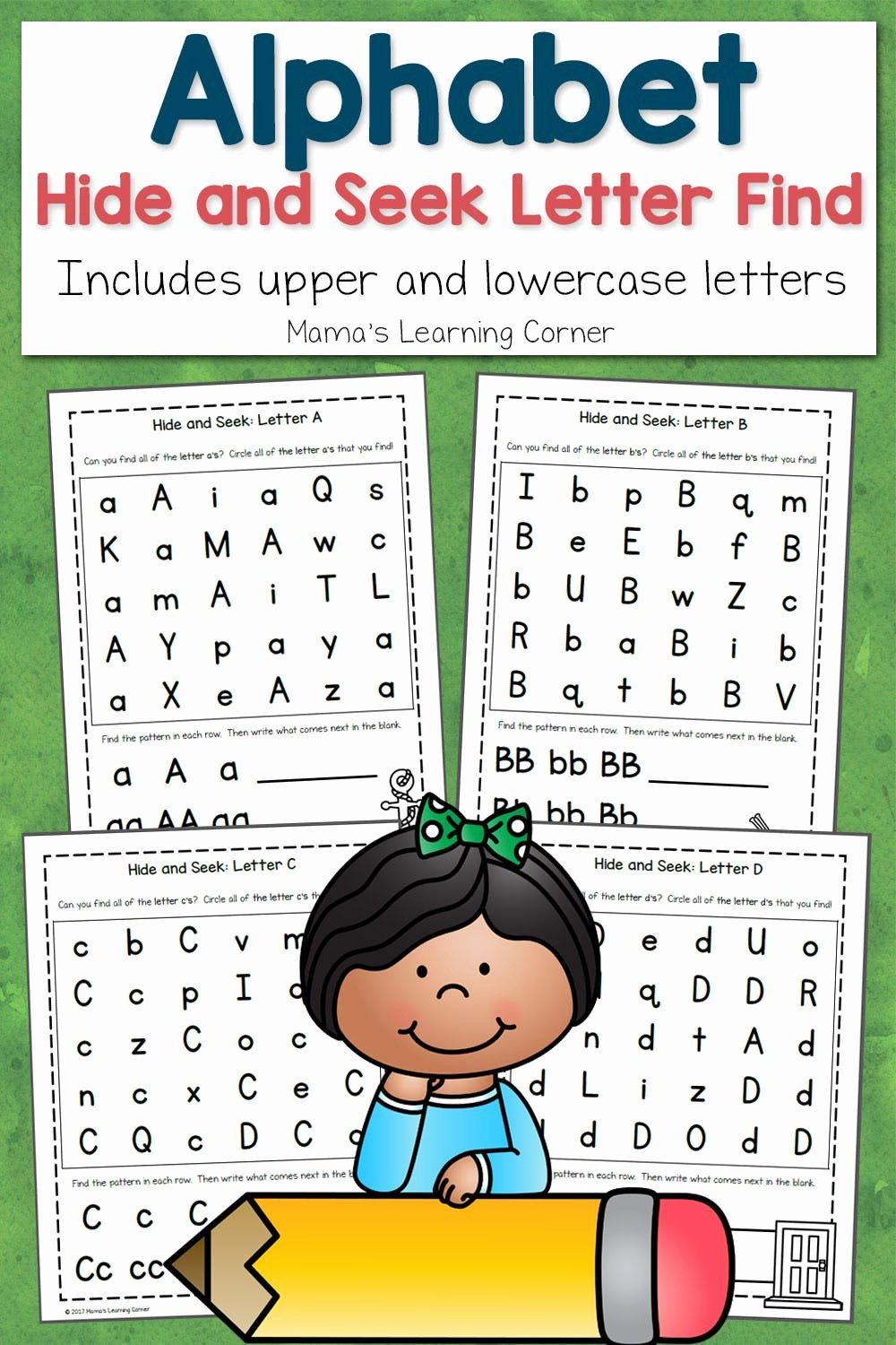Find the Letter Worksheets for Preschoolers Best Of Abc Hide and Seek Letter Find for Preschoolers Mamas