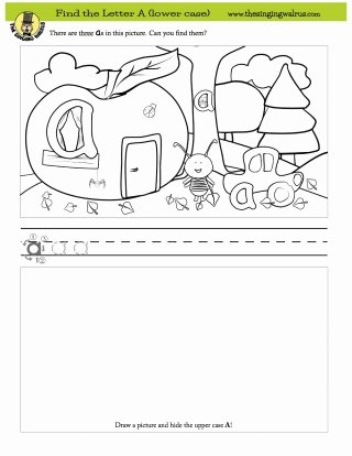 Find the Letter Worksheets for Preschoolers Fresh Find the Letter Worksheets the Singing Walrus