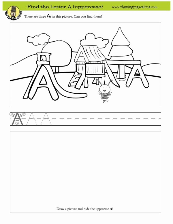 Find the Letter Worksheets for Preschoolers Lovely Find the Letter Worksheets the Singing Walrus