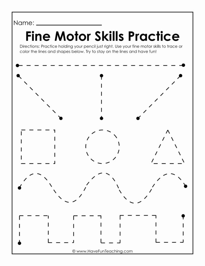 Fine Motor Skills Worksheets for Preschoolers Awesome Fine Motor Skills Practice Worksheet Writing Worksheets