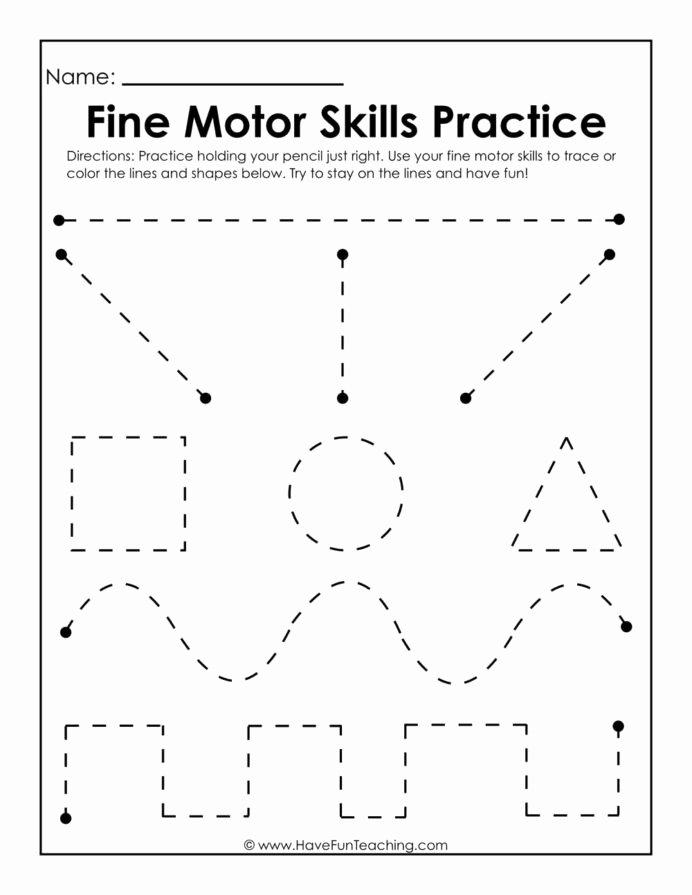 Fine Motor Skills Worksheets for Preschoolers Awesome Fine Motor Skills Practice Worksheet Writing Worksheets