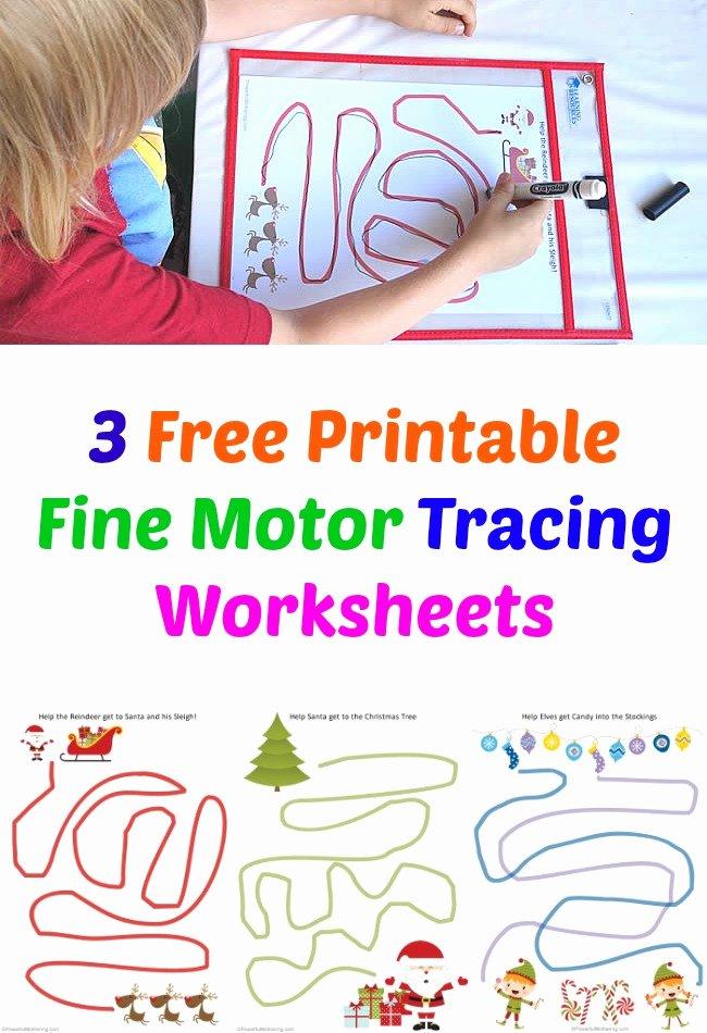 Fine Motor Skills Worksheets For Preschoolers Fresh Free Printable Fine  Motor Tracing Worksheets Christmas – Printable Worksheets For Kids
