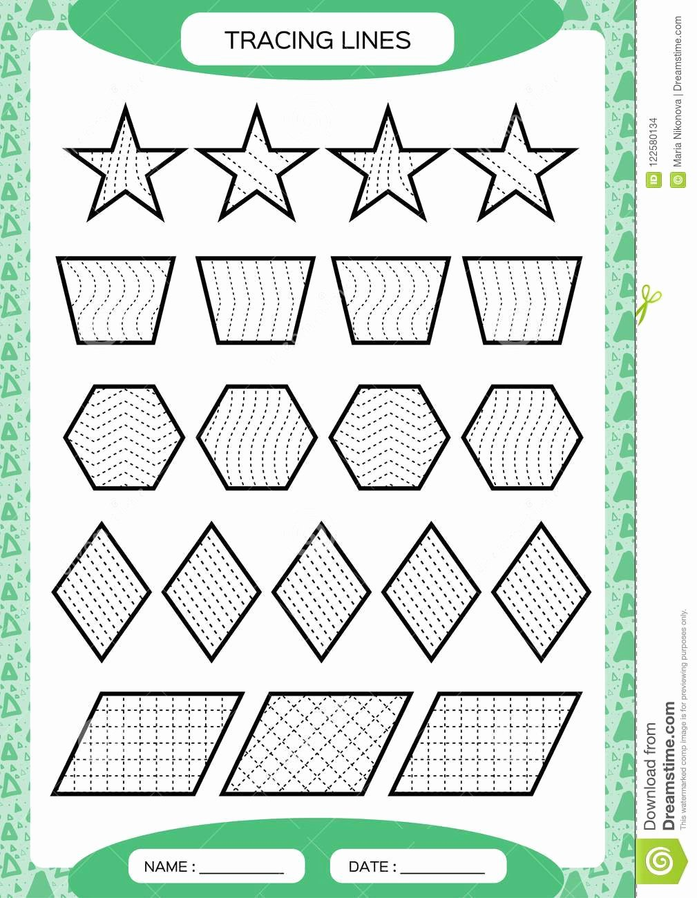 Fine Motor Skills Worksheets for Preschoolers New Tracing Lines Kids Education Preschool Worksheet Basic