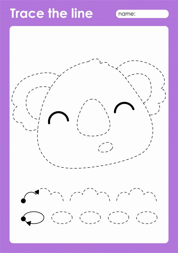 Fine Motor Worksheets for Preschoolers Awesome Premium Vector