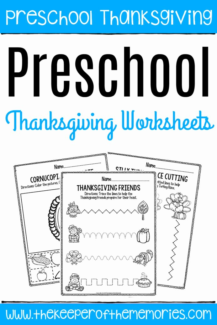 Fine Motor Worksheets for Preschoolers Beautiful Printable Fine Motor Thanksgiving Preschool Worksheets for