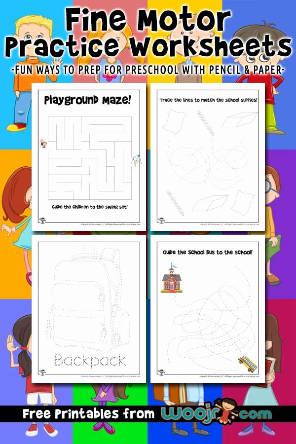 Fine Motor Worksheets for Preschoolers Fresh Fine Motor Practice Worksheets Get Ready for Preschool