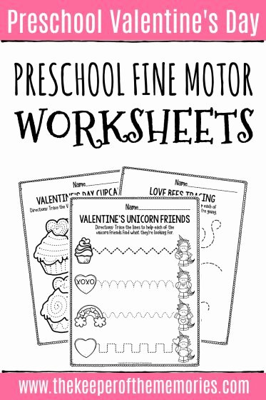 Fine Motor Worksheets for Preschoolers Fresh Printable Fine Motor Valentine S Day Preschool Worksheets