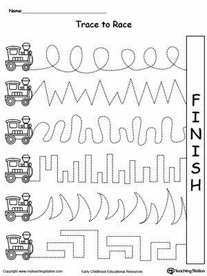 Fine Motor Worksheets for Preschoolers Fresh Trace the Line Pattern to Water the Flowers