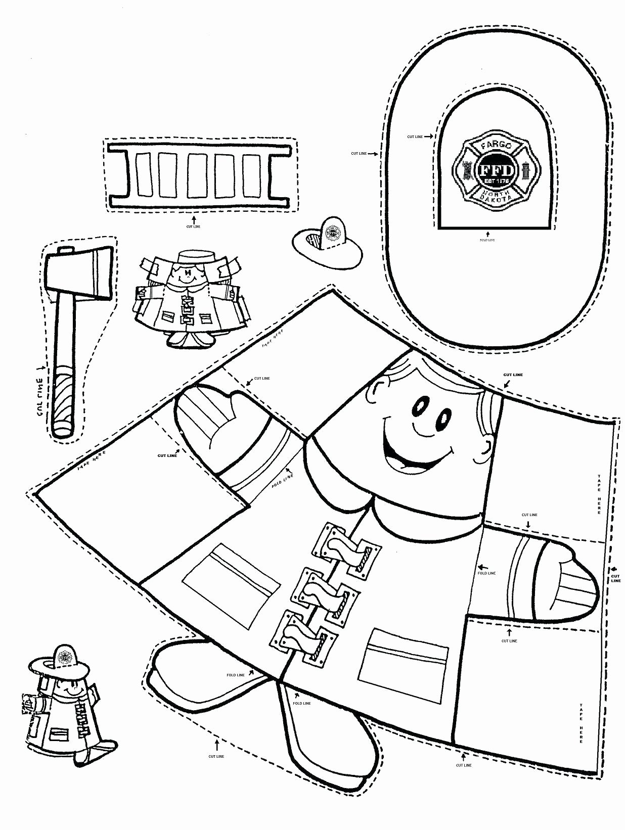 Fire Safety Worksheets for Preschoolers Best Of Coloring Fire Safety Coloringges Free Printable Preschool