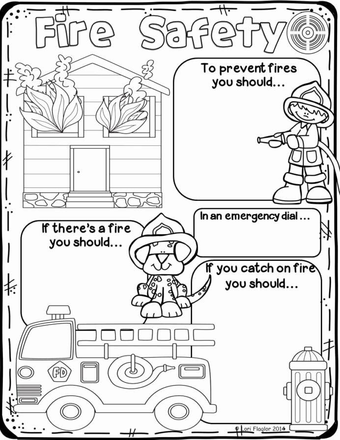 Fire Safety Worksheets for Preschoolers New Fire Safety Preschool Worksheets for Elementary Fun Math