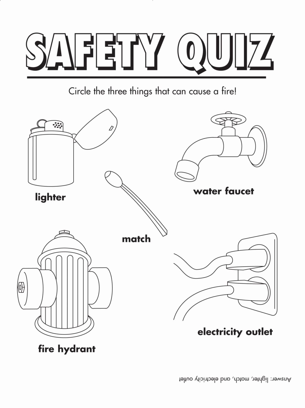 Fire Safety Worksheets for Preschoolers New Worksheet Coloring Pages Fire Safety Book Printable