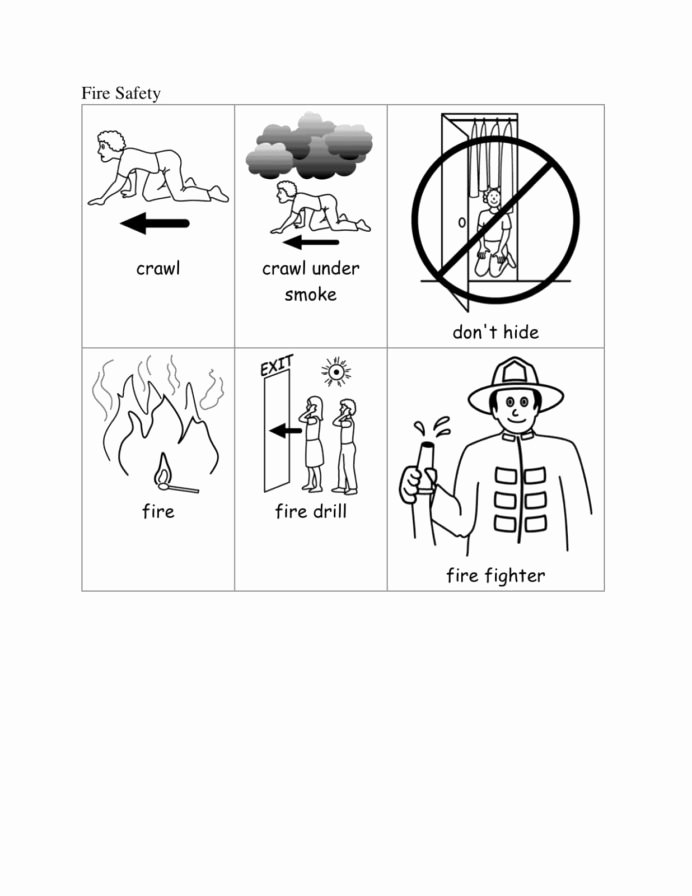 Fire Safety Worksheets for Preschoolers top Fire Safety Kindergarten Special Education Munity Helper