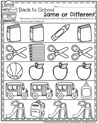 First Day Of School Worksheets for Preschoolers Awesome Back to School Preschool Worksheets Planning Playtime