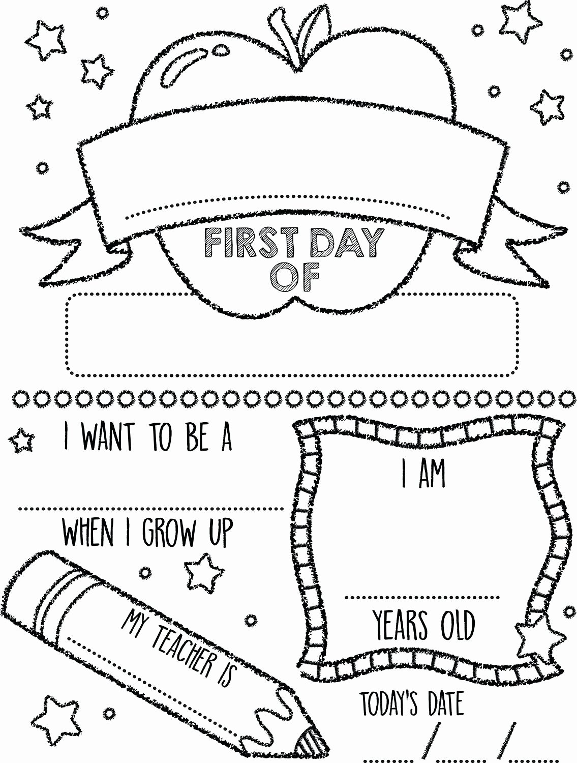 First Day Of School Worksheets for Preschoolers Awesome Printable Preschool Coloring Pages Summerst Day Kindergarten