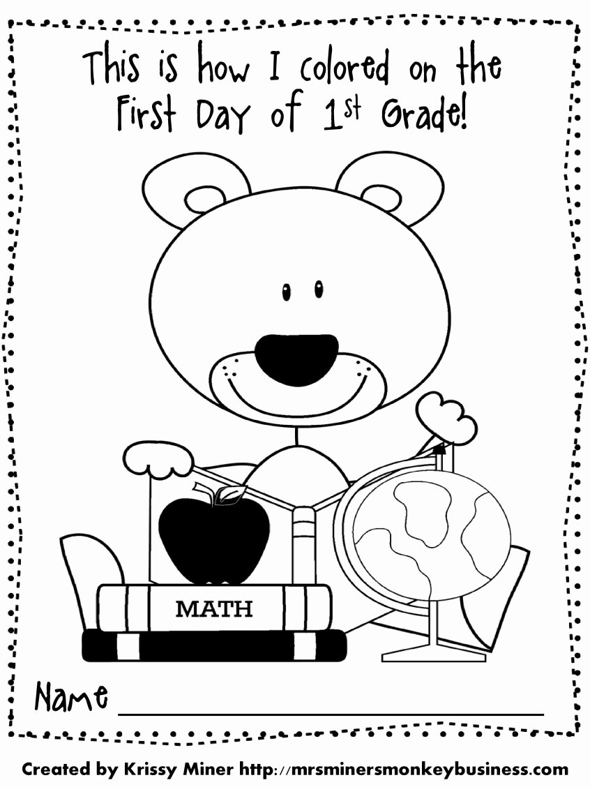 First Day Of School Worksheets for Preschoolers Fresh Incredible First Day School Coloring Sheet Printable