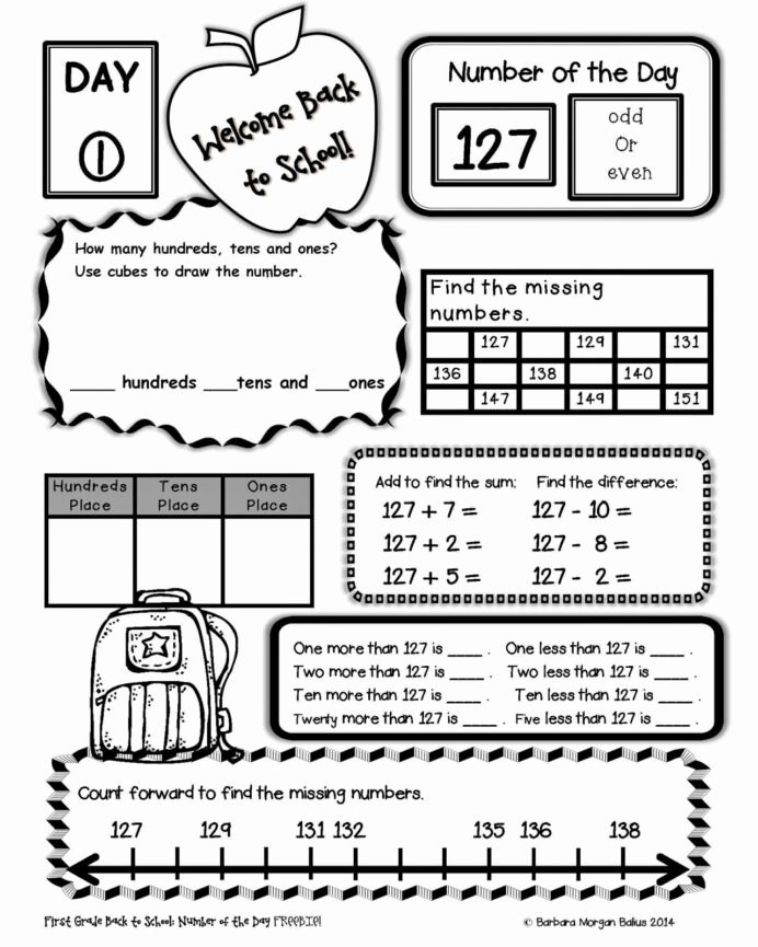 First Day Of School Worksheets for Preschoolers Lovely Back to School Worksheets 2nd Grade for Printable Free Basic