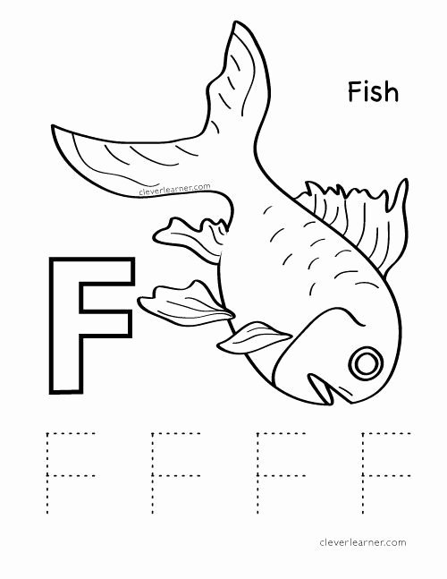 Fish Worksheets for Preschoolers Best Of Letter F is for Fish Preschool Worksheet