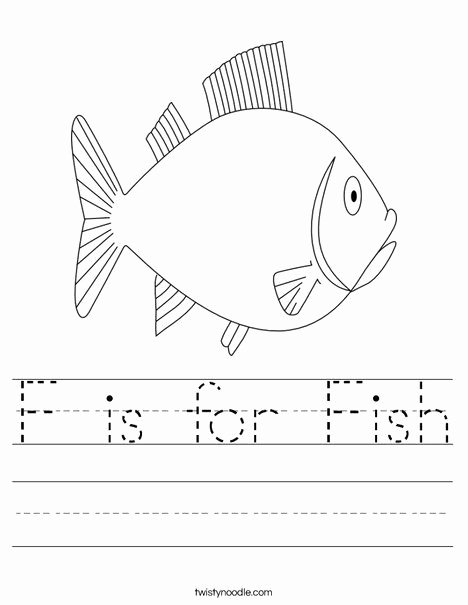 Fish Worksheets for Preschoolers Inspirational F is for Fish Worksheet