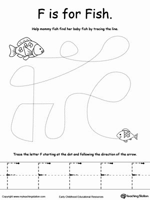 Fish Worksheets for Preschoolers Lovely the Letter F is for Fish