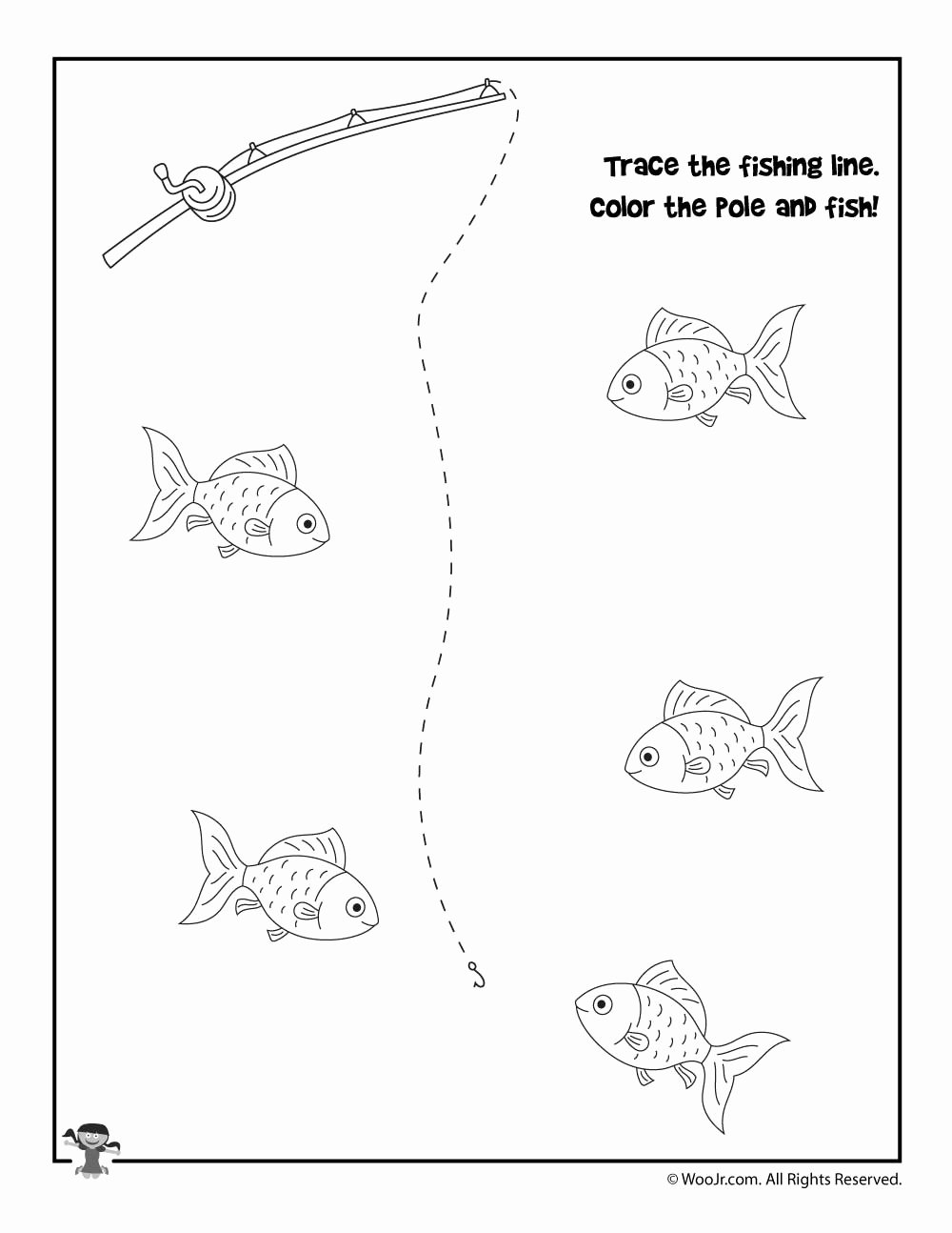Fish Worksheets for Preschoolers Lovely Worksheet Printingactice Worksheets Fish Tracing Worksheet