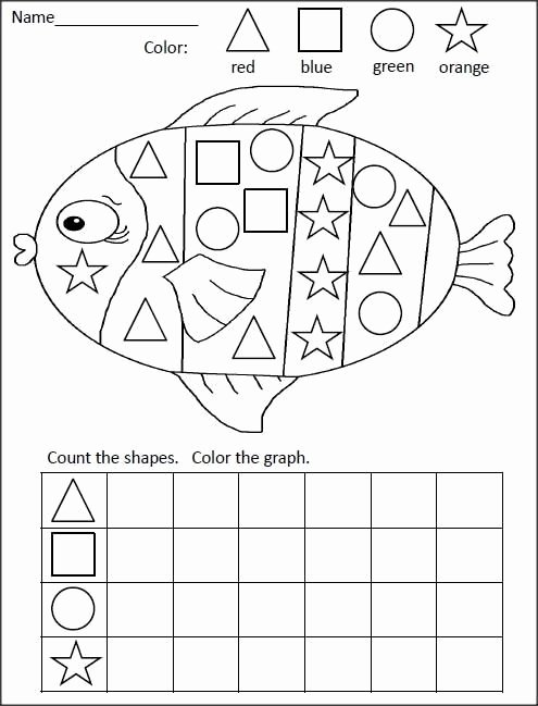 Fish Worksheets for Preschoolers New Fish Shape Graph Worksheet