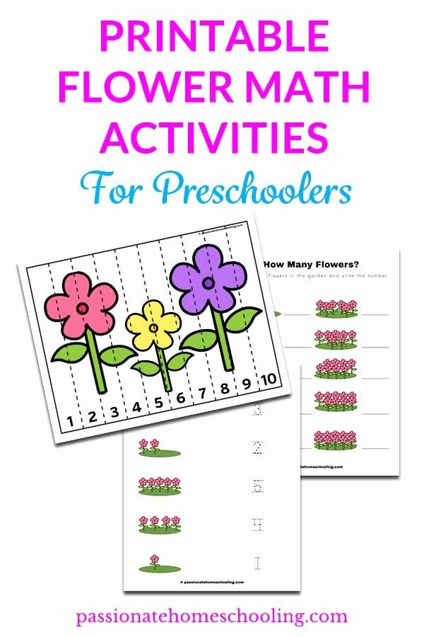Flowers Worksheets for Preschoolers Best Of Free Printable Flower Counting Practice Worksheets Pack