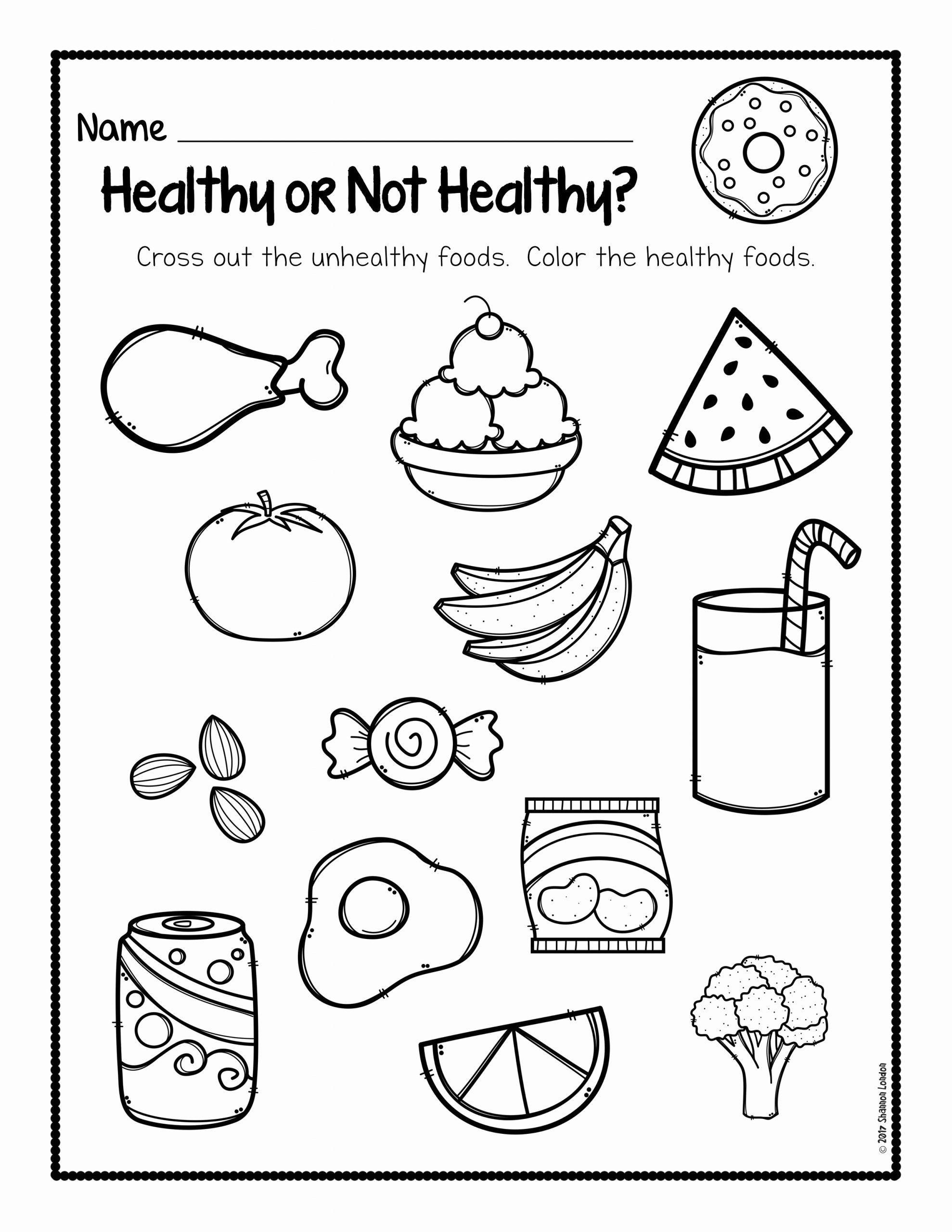 Food Worksheets for Preschoolers Awesome Healthy Foods Posters Worksheets and Activities the