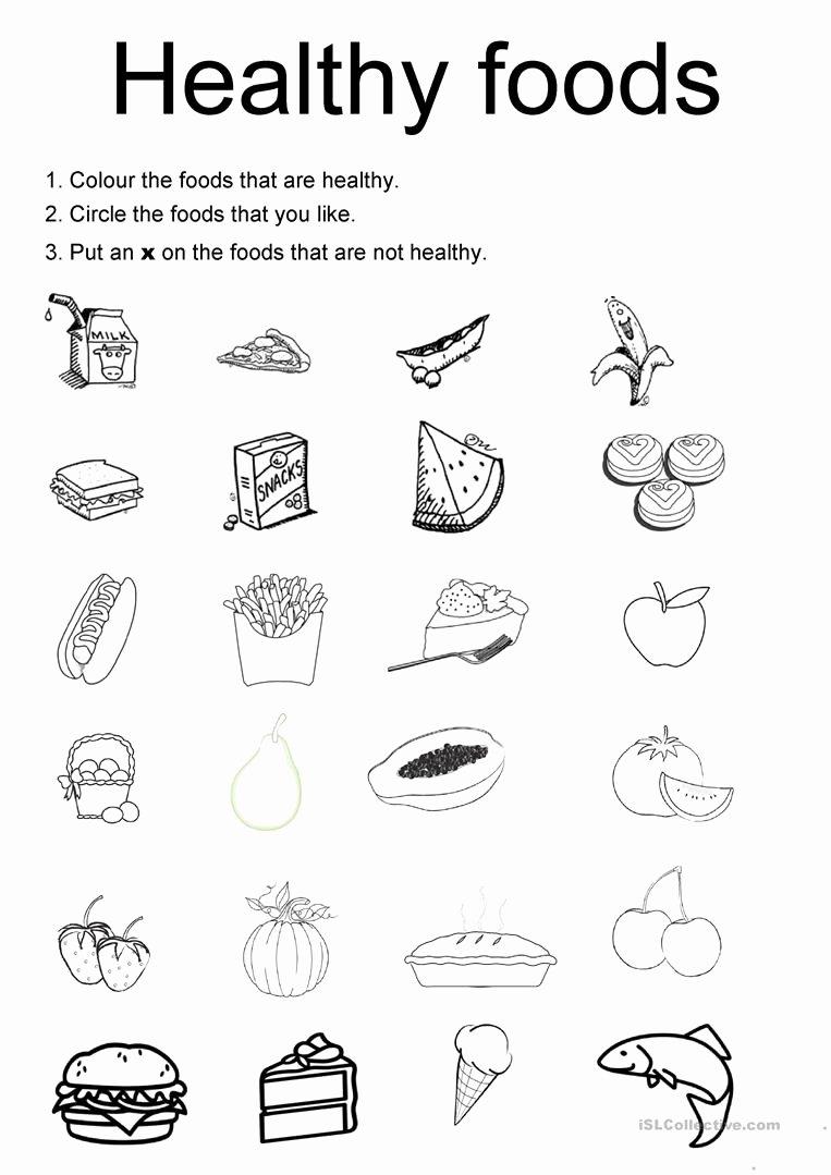 Food Worksheets for Preschoolers Beautiful English Esl Healthy Food Worksheets Most Downloaded Results