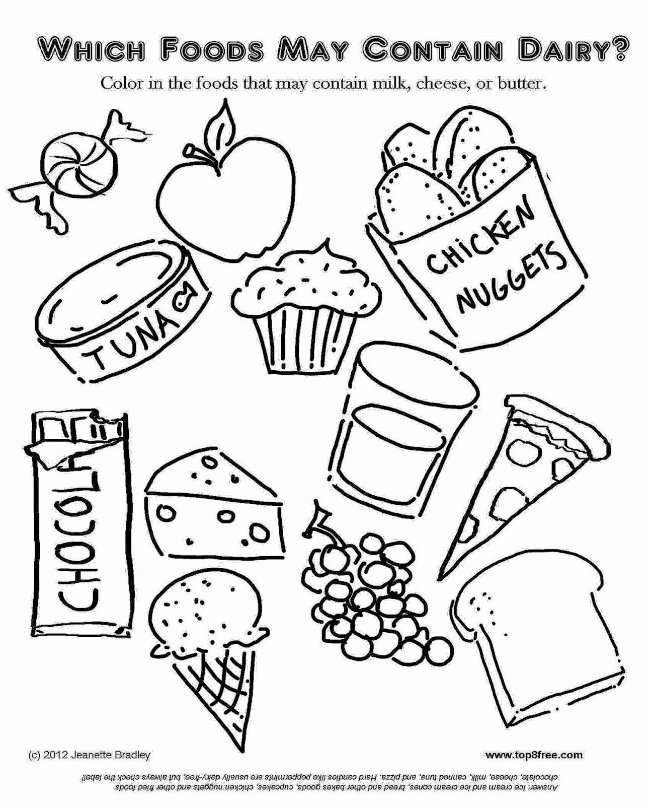 Food Worksheets for Preschoolers Fresh Healthy Foods for Kids Coloring Cooking Worksheets Printable