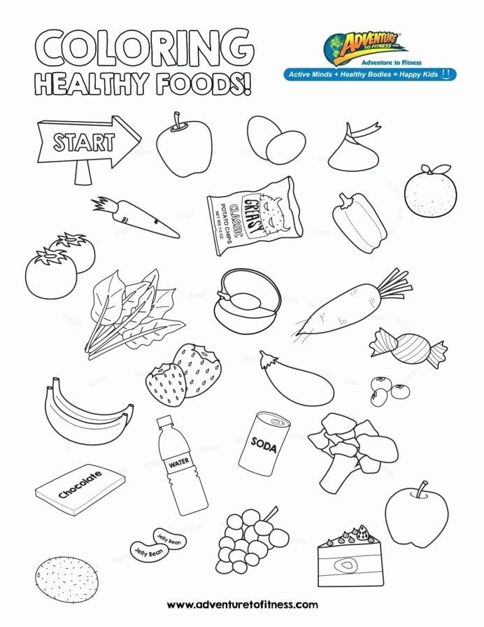 Food Worksheets for Preschoolers Fresh Worksheet Pretty Healthy Food Coloring