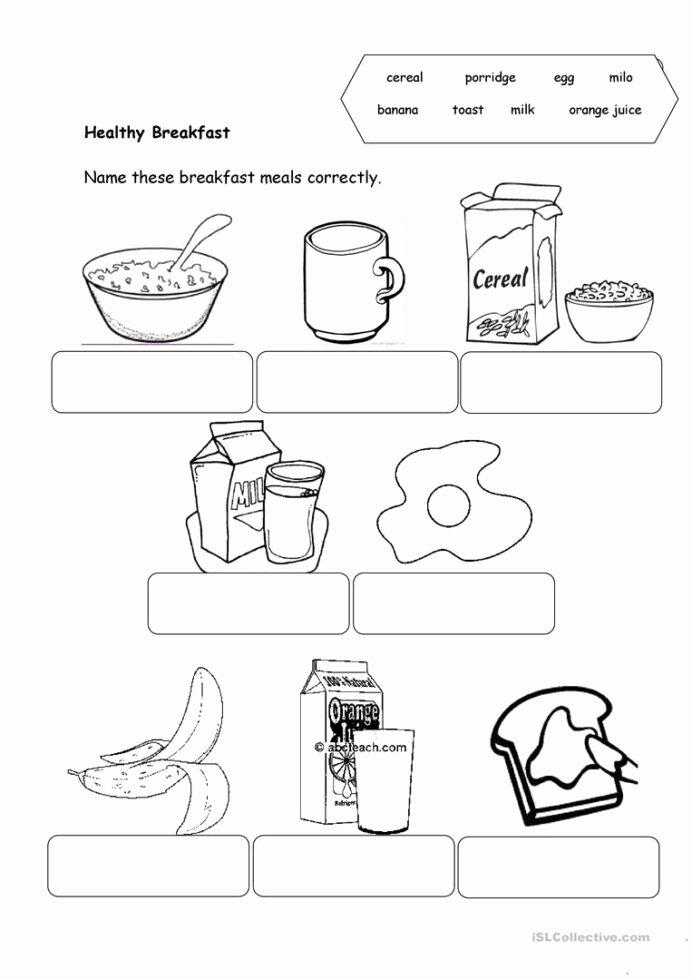 Food Worksheets for Preschoolers top Healthy Food English Esl Worksheets for Distance Learning