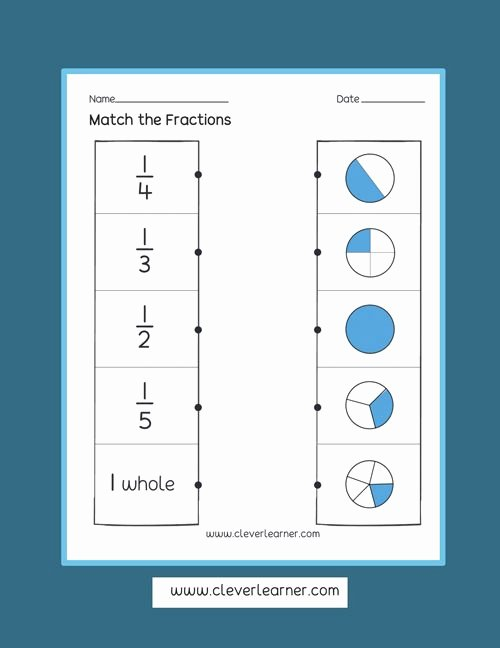 Fraction Worksheets for Preschoolers Beautiful Fun and Free Activity Sheets On Fractions for Children