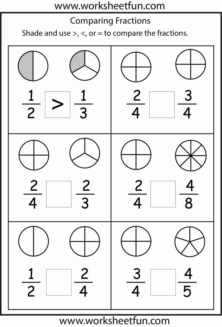 Fraction Worksheets for Preschoolers Inspirational Worksheet Fraction Worksheets for Grade to Printable