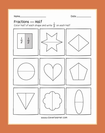 Fraction Worksheets for Preschoolers top Preschool Fractions Activities Learning About Halves Half