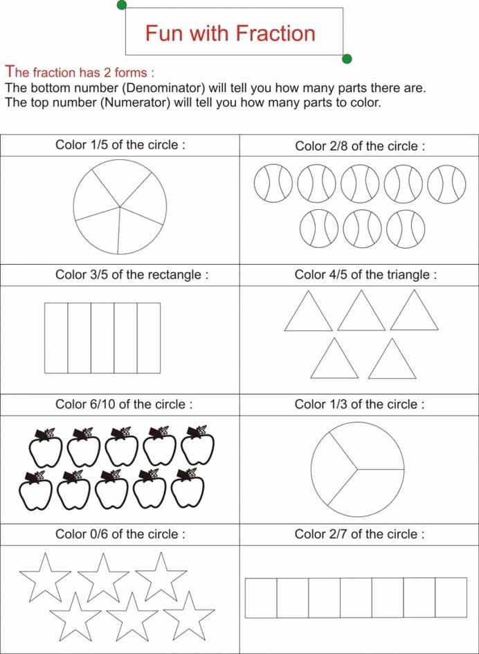 Fraction Worksheets for Preschoolers Unique Fraction is Fun Worksheets Free Ks2 Math Addition Sheets for