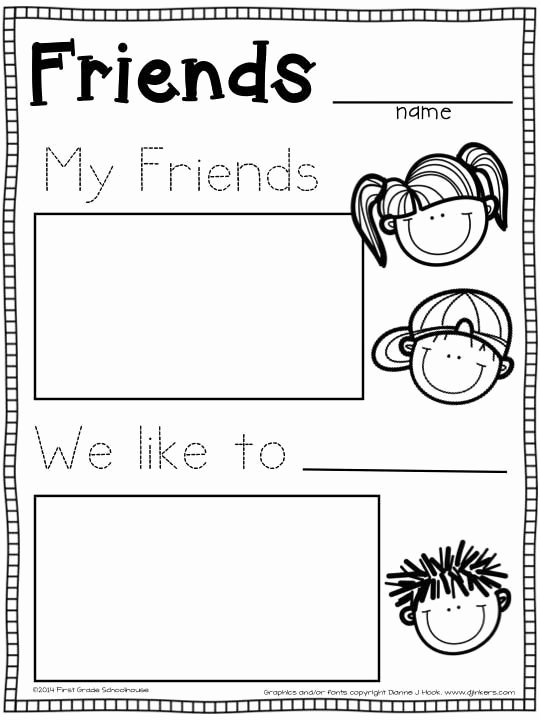 Friendship Worksheets for Preschoolers Beautiful Friends Worksheets for Preschoolers In 2020